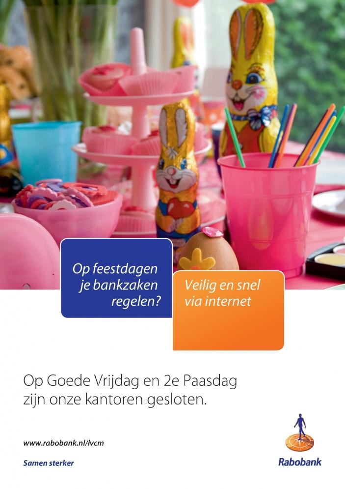 Gewijzigde Openingstijden Goede Vrijdag En Pasen Door Rabobank Land Van Cuijk Maasduinen Lees Direct Op Organisaties