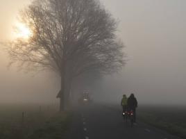 Brabant urenlang plaatselijk geplaagd door dichte mist